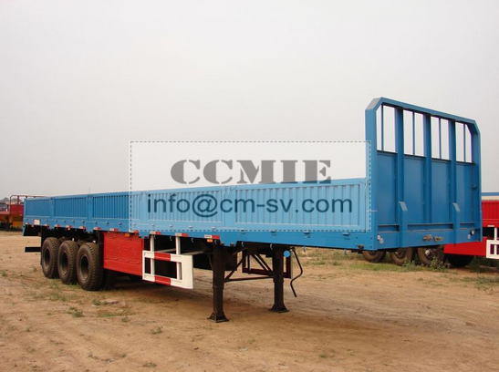 DONG FENG BARRIER VAN TRUCK Semi - Trailer 73847328472 Max Payload 45 - 100 Tons