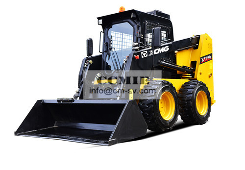 XT760 Skid Steer Loader Construction Machinery Safety And Reliability
