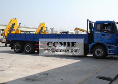China Transporting Materials Lorry Mounted Crane , 11 Meters Lifting Height Boom Truck Crane supplier