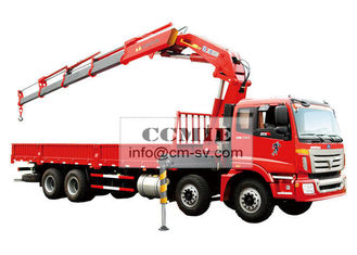 China 16 Ton Knuckle Boom Truck Mounted Crane , Heavy Things Lifting Knuckle Boom Crane supplier