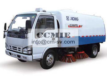 China Stainless Steel Special Vehicles , Urban Road Cleaning Street Sweeper Truck supplier